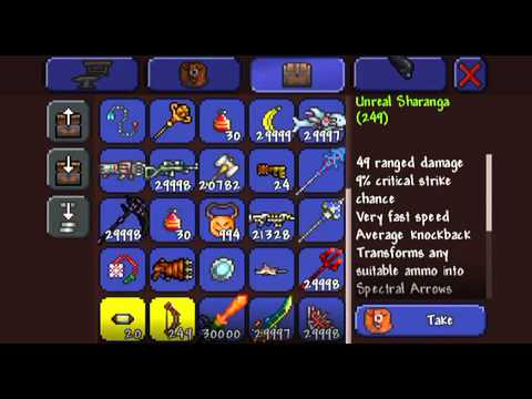 How to craft the terra blade in terreria ios!!! (Byw i have a hacked world, will make another vid...
