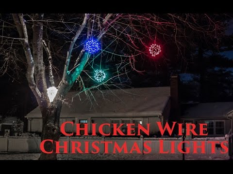 How to make Lighted Chicken Wire Christmas Balls, DIY Outdoor Christmas Decorations
