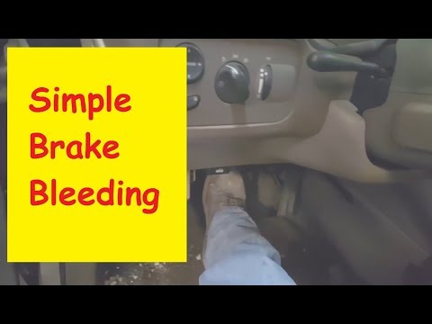 How to bleed brakes by yourself, no special tools