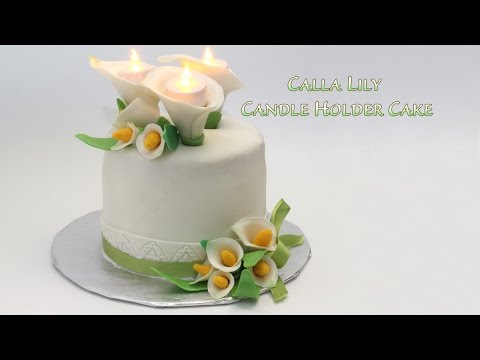 Calla Lily Candle Holder Cake