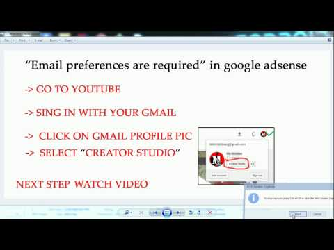 how to  solve email preferences are required in google adsense