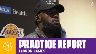 """LeBron: """"I'm here 100 percent, in great health""""   Lakers Practice"""