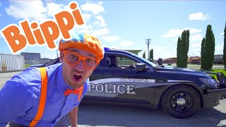 Police Cars for Toddlers with Blippi | Educational Videos for Kids