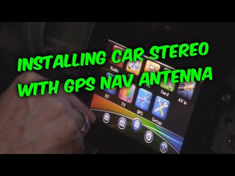 HOW TO INSTALL and WIRE AN AFTERMARKET CAR RADIO WITH GPS