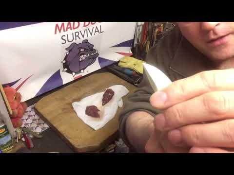 Bushcraft pigeon eating!