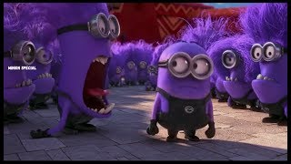 The Purple Minion Attacks scene - Despicable Me 2 ( 2013 )