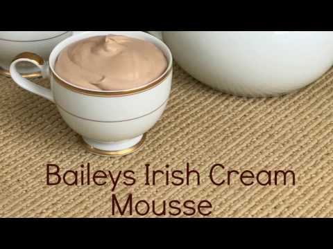 EASY! Baileys Irish Cream Mousse!