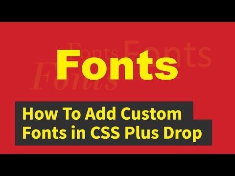 How To Add Custom Fonts in CSS Plus Drop Cap | Quick Tutorial
