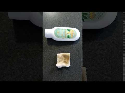 How to Remove Resin Residue from Countertops using Hemp Hand Cleaner
