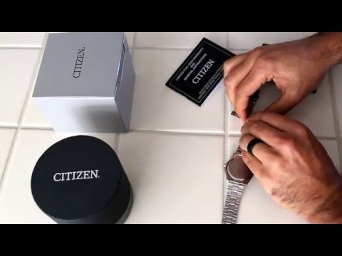 How to shorten your new Citizen watch band (non pin style) using a nail.