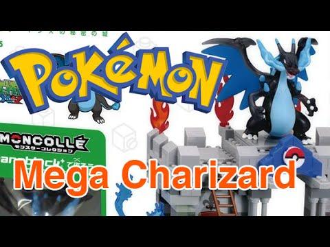 POKEMON Lego!!! nanoblock+ Mega Charizard X Secret Castle
