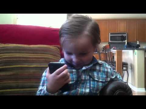 Adam Happy Birthday Phone Call with Grandma & Grandpa