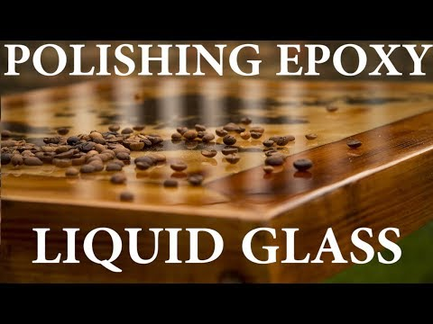 POLISH EPOXY TABLE TOP  from matte to crystal clear ; MILIC DIY