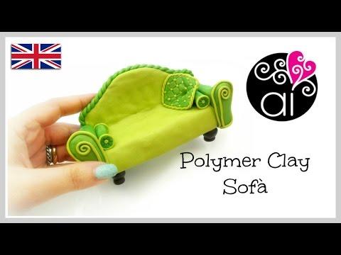 Polymer clay sofà | DIY Miniature Tutorial | English version