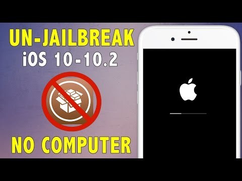 How to Unjailbreak/Remove Jailbreak on iOS 10 - 10.2   Delete Cydia & Restore without Updating