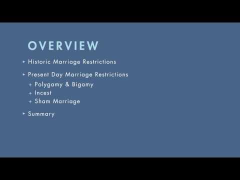 Family Law tutorial: Marriage Restrictions | quimbee.com