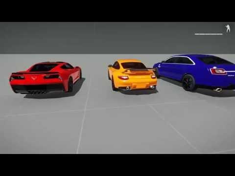 ArmA 3 - Porsche GT2 RS, Corvette Stingray, Ford Taurus SHO