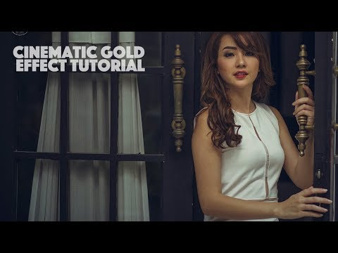 CINEMATIC GOLD EFFECT WITH RAW FILTER | PHOTOSHOP CC TUTORIAL