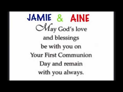 Jamie and Aine's First Communion