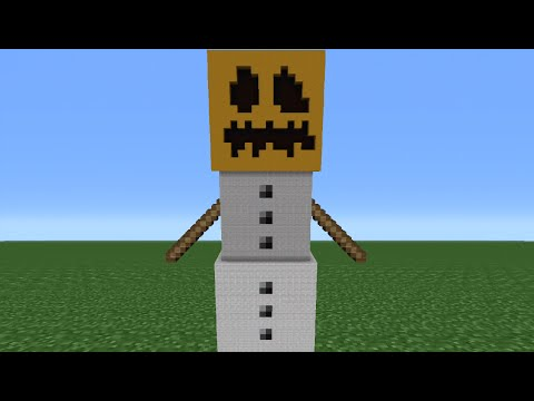 Minecraft Tutorial: How To Make A Snow Golem Statue