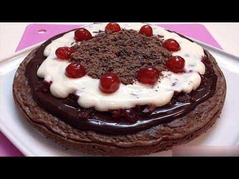 Black Forest Dessert Cake Without Oven - Dessert Cake in Vessel
