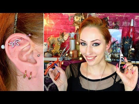 Piercings: Switching some bling😄💎 -helix, industrial, belly button-