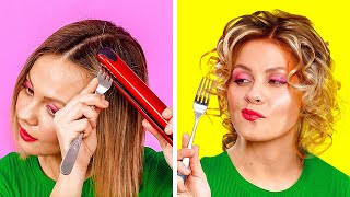 GENIUS BEAUTY HACKS FOR EVERY OCCASION || Funny And Useful Girly Hacks by 123 Go! Gold