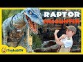 Jurassic World Raptor Adventure With Giant Dinosaurs T Rex For Kids At Universal Studios Hollywood