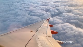 Early Morning A320 Takeoff Through Spectacular Clouds [4k60]