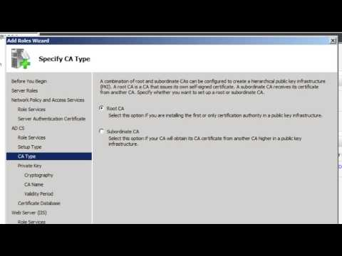 How To Setup Radius Server :: Installing CA and NPS - Part 1 of 4