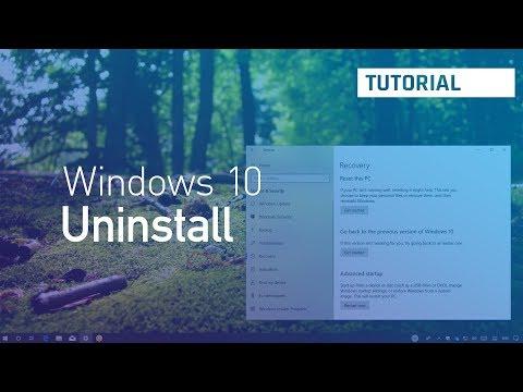 Windows 10 April 2018 Update, version 1803: Uninstall, rollback, process