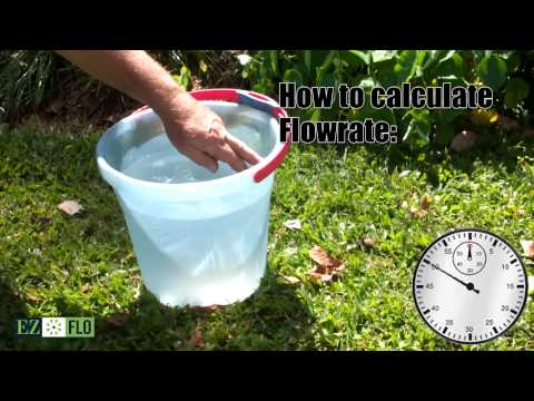 How to measure flow rate