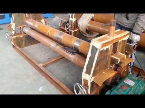 semi-automatic plate rolling machine