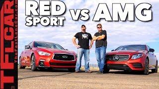 Too Close to Call! Mercedes-AMG E43 vs Infiniti Q50 Red Sport Drag Race