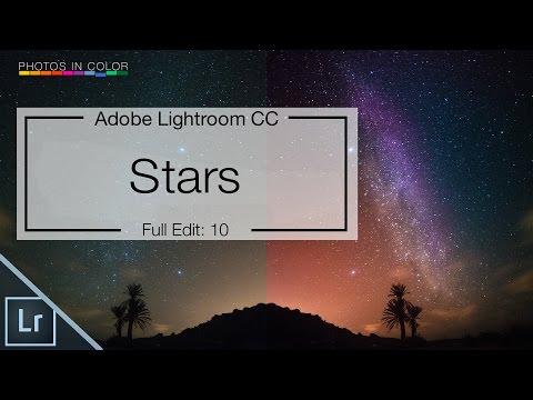 Lightroom 6 Tutorial - Edit Star Photos in lightroom CC Tutorial