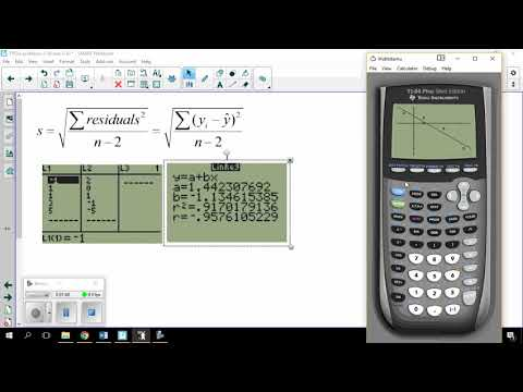 Calculating s - the standard deviation of the residuals