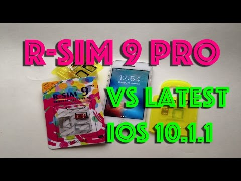 How to Unlock & Activate ANY iPhone latest iOS 10.1.1 vs R-SIM 解鎖蘋果手機