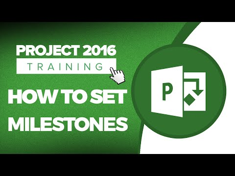 Microsoft Project 2016 Tutorial: How to Set Milestones in Project 2016