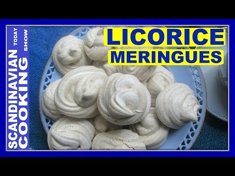 LICORICE MERINGUES - How To Make Easy Meringue Cookies with Licorice