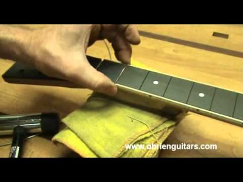 Robert O'Brien Online Guitar Building Course - Chapter 9 lesson 6 - fret installation
