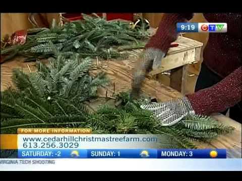 Cedar Hill Christmas Tree Farm  - Wreath making