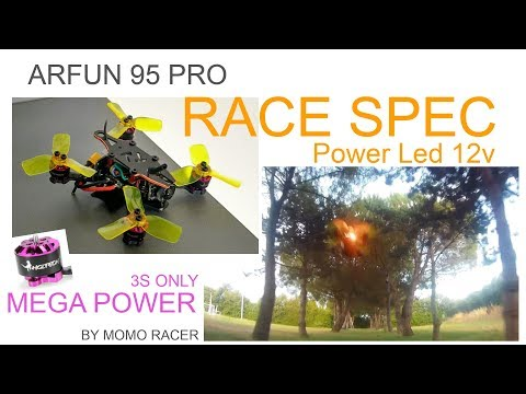 Micro Monster Racer - 95mm on 1105 3S - Power Led Poursuit and DvR