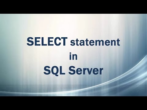 SELECT statement in SQL Server