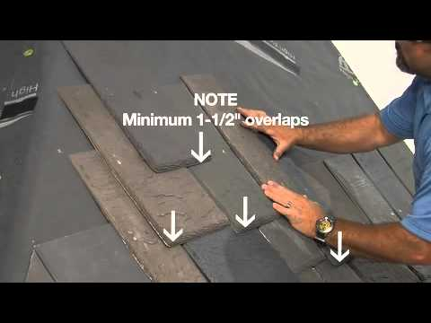 DaVinci Roofscapes Slate and Shake Installation Video