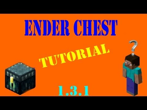 How to use NEW Ender Chest - Minecraft 1.6