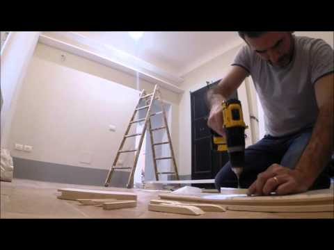 Making a wall bookcase