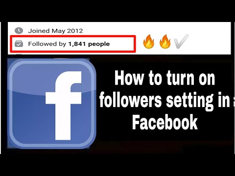 How to turn on followers on facebook