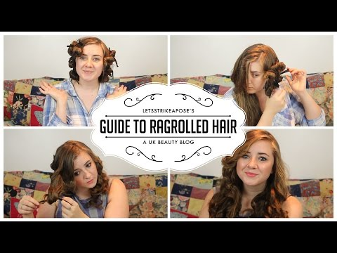 DIY Heat Free Curls - Rag Roll Hair