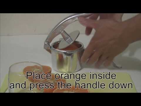 How to use orange squeezer?