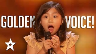 9 YEAR OLD Celine Tam GOLDEN BUZZER Audition On America